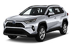 2019 Toyota RAV4 Limited 5 Door SUV angular front stock photos of front three quarter view