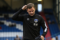 Oldham Athletic's manager Richie Wellens scratch his head during the Sky Bet League 1 match between Oldham Athletic and Bristol Rovers at Boundary Park, Oldham, England on 30 December 2017. Photo by Juel Miah / PRiME Media Images.