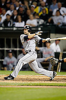 August 7, 2009:  Second Baseman Jamey Carroll (11) of the Cleveland Indians at bat during a game vs. the Chicago White Sox at U.S. Cellular Field in Chicago, IL.  The Indians defeated the White Sox 6-2.  Photo By Mike Janes/Four Seam Images