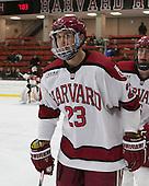 David Valek (Harvard - 23) - The Harvard University Crimson defeated the Princeton University Tigers 3-2 on Friday, January 31, 2014, at the Bright-Landry Hockey Center in Cambridge, Massachusetts.