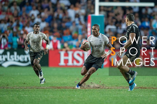 Fiji vs New Zealand during the Cup Final at the HSBC Hong Kong Rugby Sevens 2016 on 10 April 2016 at Hong Kong Stadium in Hong Kong, China. Photo by Li Man Yuen / Power Sport Images