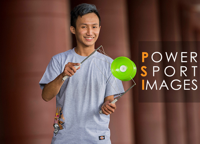 Wu Chi Ming poses for a portrait ahead the Red Bull PAO 2015 at the National Taiwan Science Education Centre in Taipei, Taiwan. Photo by Aitor Alcalde / Power Sport Images