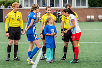 Boston, MA - Friday July 07, 2017: Julie King and Christen Press  during a regular season National Women's Soccer League (NWSL) match between the Boston Breakers and the Chicago Red Stars at Jordan Field.