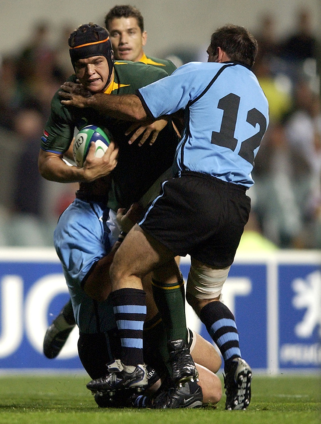 Photo: Richard Lane..South Africa v Uruguay, Pool C at the Subiaco Oval, Perth. RWC 2003. 11/10/2003. .Juan Smith.