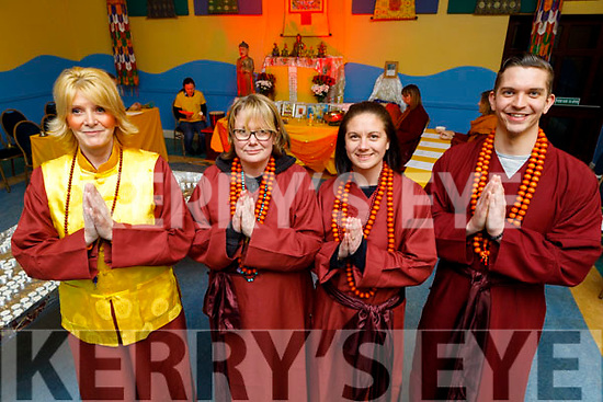 Celebrating a traditional Chinese Buddhist Ritual as part of the Chinese New Year In Teach an tSolais on Saturday.L to r: SIFU Jane Ward, Clare Butcher, Natalie Angus and Patrick Kelly.