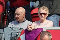 Burnley fans enjoy the match atmosphere<br /> <br /> Photographer David Shipman/CameraSport<br /> <br /> The Premier League - Middlesbrough v Burnley - Saturday 8th April 2017 - Riverside Stadium - Middlesbrough<br /> <br /> World Copyright &copy; 2017 CameraSport. All rights reserved. 43 Linden Ave. Countesthorpe. Leicester. England. LE8 5PG - Tel: +44 (0) 116 277 4147 - admin@camerasport.com - www.camerasport.com