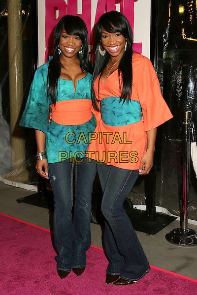 "KHADIJAH HAQQ & MALIKA HAQQ.Los Angeles Premiere of ""Phat Girlz"" at Arclight Cinemas, Hollywood, California, USA, 03 April 2006..full length twins sisters.Ref: ADM/BP.www.capitalpictures.com.sales@capitalpictures.com.©Byron Purvis/AdMedia/Capital Pictures."