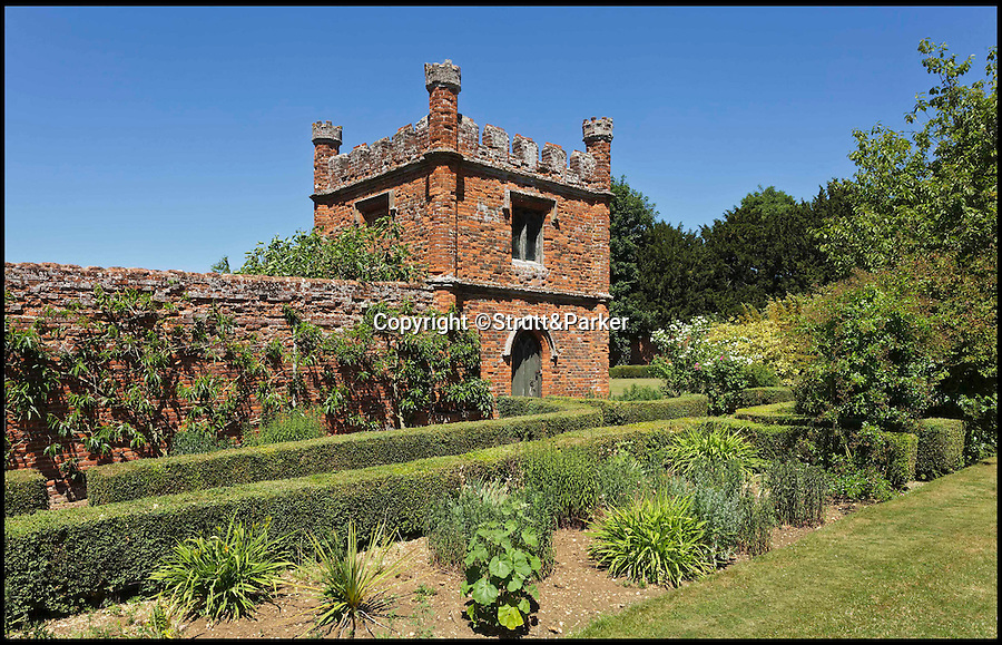 BNPS.co.uk (01202 558833)<br /> Pic: Strutt&Parker/BNPS<br /> <br /> The folly which lies in the gardens.<br /> <br /> A historic country estate which was once the subject of a 150 year mystery of sunken treasure has gone on the market for the first time in 250 years.<br /> <br /> Spains Hall in Essex was burgled in the 18th century but the raiders' getaway cart got stuck in a bog and they threw their loot of silver in a lake on the estate.<br /> <br /> It wasn't until 1902 the lake was drained and the treasure was found. <br /> <br /> The estate in now on the market for £6m.