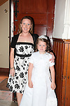 Callystown National School First Communion..Saoirse Cronin and Mam Catherine.Pic Fran Caffrey/newsfile.ie