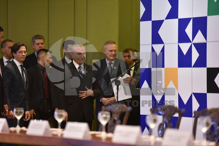 BRASILIA, DF – 31.10.2016 – AGENDA–TEMER – O presidente Michel Temer durante recepção aos Chefes de Estado e de Governo da Comunidade dos Países de Língua Portuguesa nesta segunda-feira, 31, no Palácio do Itamaraty. (Foto: Ricardo Botelho/Brazil Photo Press)