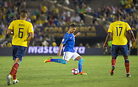 Pasadena, California - June 4, 2016: Brazil and Ecuador played to a 0-0 draw in their first group stage match of the 2016 Copa America