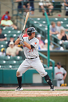 Indianapolis Indians catcher Jacob Stallings (23) during a game against the Rochester Red Wings on May 26, 2016 at Frontier Field in Rochester, New York.  Indianapolis defeated Rochester 5-2.  (Mike Janes/Four Seam Images)