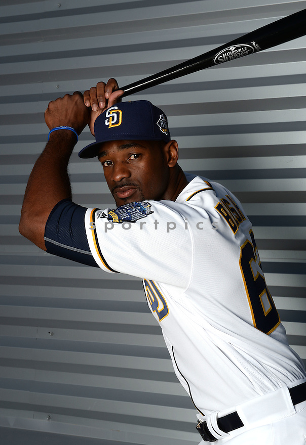 San Diego Padres Jabari Blash (62) during photo day on February 26, 2016 in Peoria, AZ.