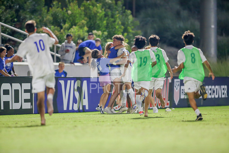 Irvine, CA - July 10, 2019: U.S. Soccer Boys' DA U-16/17 Final Solar Soccer Club vs Concorde Fire at Great Park.