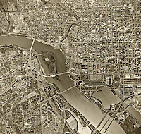 historical aerial photograph of Washington, DC, 1964