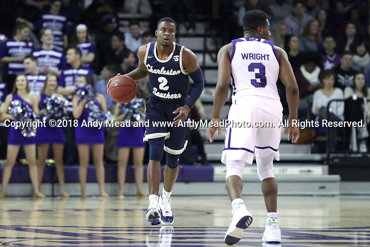 HIGH POINT, NC - JANUARY 06: Charleston Southern's Cortez Mitchell (2). The High Point University of Panthers hosted the Charleston Southern University Buccaneers on January 6, 2018 at Millis Athletic Convocation Center in High Point, NC in a Division I men's college basketball game. HPU won the game 80-59.