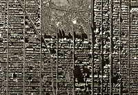aerial photo map Central Park and Midtown Manhattan, New York City, 1954