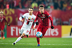 Shanghai FC Forward Oscar Emboaba Junior (R) in action against Sydney Wanderers Forward Nicolas Martinez (L) during the AFC Champions League 2017 Group F match between Shanghai SIPG FC (CHN) vs Western Sydney Wanderers (AUS) at the Shanghai Stadium on 28 February 2017 in Shanghai, China. Photo by Marcio Rodrigo Machado / Power Sport Images