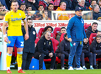 Leeds United manager Marcelo Bielsa shouts instructions to his team from the technical area<br /> <br /> Photographer Alex Dodd/CameraSport<br /> <br /> The EFL Sky Bet Championship - Middlesbrough v Leeds United - Saturday 9th February 2019 - Riverside Stadium - Middlesbrough<br /> <br /> World Copyright © 2019 CameraSport. All rights reserved. 43 Linden Ave. Countesthorpe. Leicester. England. LE8 5PG - Tel: +44 (0) 116 277 4147 - admin@camerasport.com - www.camerasport.com