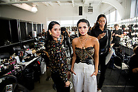 NEW YORK, NY- SEPTEMBER 6: Andrea and Eliana Salazar pose before the  Seta Apparel show during the New York Fashion Week at Pier 59 studios on September 6, 2019 in New York City. (Photo by Pablo Monsalve / VIEWpress )