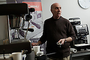 Richard Tabor is a long-time espresso connoisseur who played a major roll in bringing great coffee to the Triangle. Tabor sells Cimabali machines now throughout the southeast from his office outside Hillsboro, N.C., Thursday, March 3, 2011.