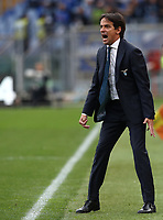 Football, Serie A: S.S. Lazio - Spal, Olympic stadium, Rome, February 2, 2020. <br /> Lazio's coach Simone Inzaghi speaks to his players during  the Italian Serie A football match between S.S. Lazio and Spali at Rome's Olympic stadium, Rome , on February 2, 2020. <br /> UPDATE IMAGES PRESS/Isabella Bonotto