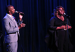 Christian Dante White and Alex Newell during the Vineyard Theatre Gala honoring Colman Domingo at the Edison Ballroom on May 06, 2019 in New York City.