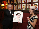 """Max Klimavicius, Phillipa Soo from the cast of """"The Parisian Woman"""" honored with a Sardi's Wall of Fame Portrait on February 28, 2018 at Sardi's in New York City."""