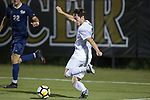 Luis Argudo (2) of the Wake Forest Demon Deacons takes a shot on goal during first half action against the Pitt Panthers at Spry Soccer Stadium on September 16, 2017 in Winston-Salem, North Carolina.  The Demon Deacons defeated the Panthers 2-0.  (Brian Westerholt/Sports On Film)