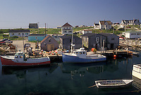 Peggy's Cove, Nova Scotia, fishing village, fishing boats, NS, Canada, Atlantic Ocean, Scenic view of the fishing village of Peggy's Cove in Nova Scotia.