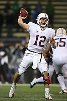 Oct 30, 20010:  Stanford quarterback #12 Andrew Luck fires the football down field against Washington.  Stanford defeated Washington 41-0 at Husky Stadium in Seattle, Washington...