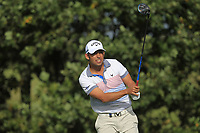 Pablo Larrazabal (ESP) on the 4th tee during Round 2 of the Sky Sports British Masters at Walton Heath Golf Club in Tadworth, Surrey, England on Friday 12th Oct 2018.<br /> Picture:  Thos Caffrey | Golffile<br /> <br /> All photo usage must carry mandatory copyright credit (&copy; Golffile | Thos Caffrey)