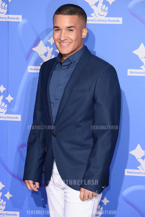 LONDON, UK. September 21, 2018: Jahmene Douglas at the National Lottery Awards 2018 at the BBC Television Centre, London.<br /> Picture: Steve Vas/Featureflash