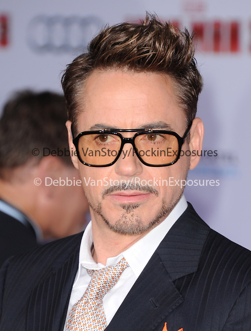 Robert Downey Jr. at The World Premiere of Marvel's Iron Man 3 held at The El CapitanTheatre in Hollywood, California on April 24,2013                                                                   Copyright 2013 Hollywood Press Agency