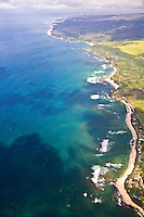 Aerial view of the North Shore of Oahu