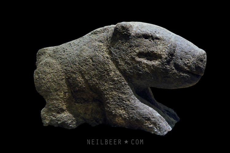 Stone carving of boar urfa museum gobekli tepe neil