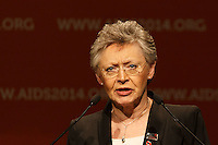 Françoise Barré-Sinoussi, the International Chair of the 20th International AIDS Conference (AIDS 2014) speaks at the opening session of the 20th International AIDS Conference at The Melbourne Convention and Exhibition Centre.<br /> For licensing of this image please go to http://demotix.com