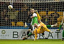 MICHAEL HIGDON SCORES MOTHERWELL'S THIRD GOAL WITH A SPECTACULAR OVER HEAD KICK