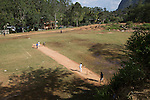 Children playing cricket Ella, Badulla District, Uva Province, Sri Lanka, Asia