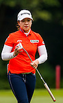 Ji-Hyun Kim of Korea in action during the Hyundai China Ladies Open 2014 on December 10 2014 at Mission Hills Shenzhen, in Shenzhen, China. Photo by Xaume Olleros / Power Sport Images