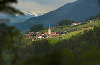 Arzl village in the alps. Imst district,Tyrol, Austria.