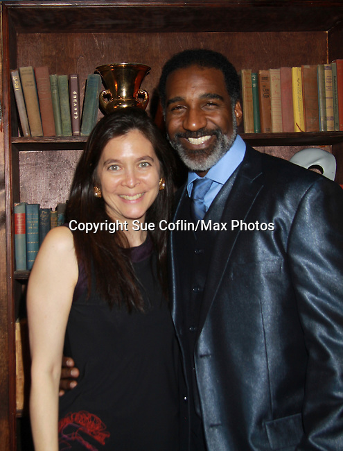 All My Children Norm Lewis poses with Diane Paulus (director) at The Gershwins' Porgy and Bess on Opening Night - January 12, 1212 at the Richard Rogers Theatre, New York City, New York.  (Photo by Sue Coflin/Max Photos)