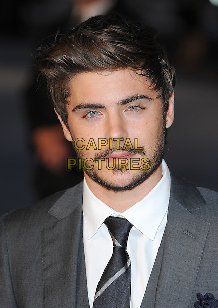 "ZAC EFRON.""The Life And Death Of Charlie St. Cloud"" UK film premiere, Empire Cinema, Leicester Square, London, England, UK. .16th September 2010 .headshot portrait grey gray beard facial hair white.CAP/BEL.?Tom Belcher/Capital Pictures."