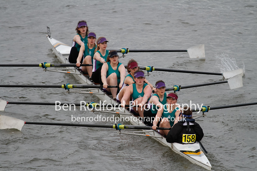 Crew: 158 Royal Holloway Boat Club<br /> <br /> Women's Head of the River (WeHoRR) 2017<br /> <br /> To purchase this photo, or to see pricing information for Prints and Downloads, click the blue 'Add to Cart' button at the top-right of the page.