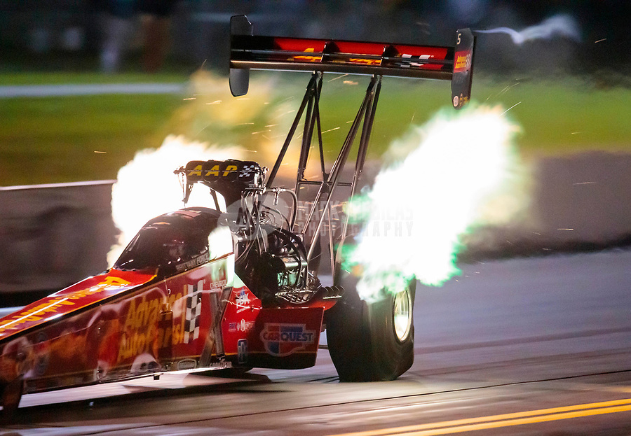 Sep 13, 2019; Mohnton, PA, USA; NHRA top fuel driver Brittany Force during qualifying for the Keystone Nationals at Maple Grove Raceway. Mandatory Credit: Mark J. Rebilas-USA TODAY Sports
