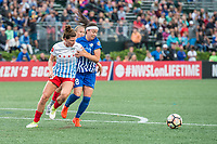 Boston, MA - Friday July 07, 2017: Arin Gilliland and Tiffany Weimer during a regular season National Women's Soccer League (NWSL) match between the Boston Breakers and the Chicago Red Stars at Jordan Field.