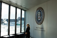 Elaine Scarry, photographed here in at the John F. Kennedy Presidential Library in Boston, Massachusetts, is the Walter M. Cabot Professor of Aesthetics and the General Theory of Value at Harvard University. She has just written a book called Thermonuclear Monarchy: Choosing Between Democracy and Doom, published by W. W. Norton & Company to be released on February 17, 2014.The book presents a case for the elimination of nuclear weapons.