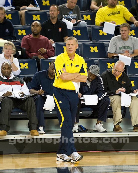 University of Michigan basketball coaching clinic at Crisler Arena in Ann Arbor, Mich., on October 22, 2011.