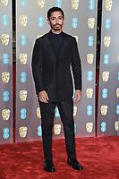 Riz Ahmed<br /> arriving for the BAFTA Film Awards 2019 at the Royal Albert Hall, London<br /> <br /> ©Ash Knotek  D3478  10/02/2019