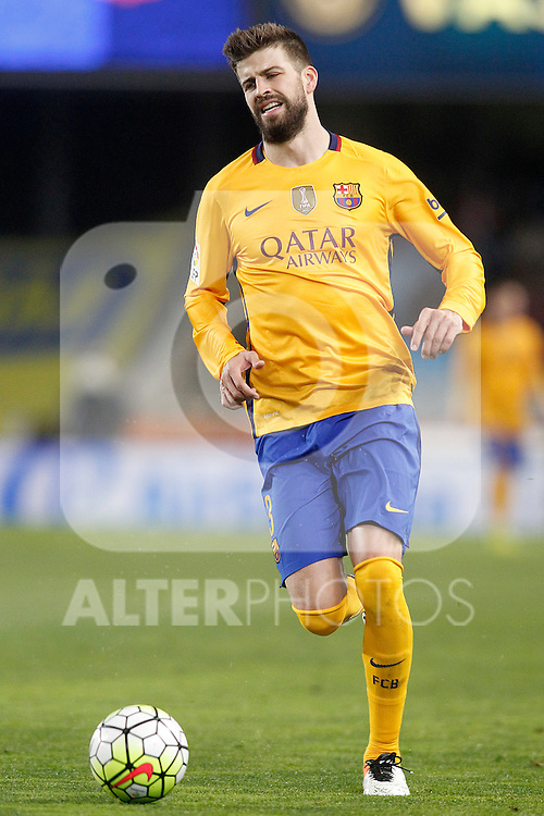 FC Barcelona's Gerard Pique during La Liga match. April 9,2016. (ALTERPHOTOS/Acero)